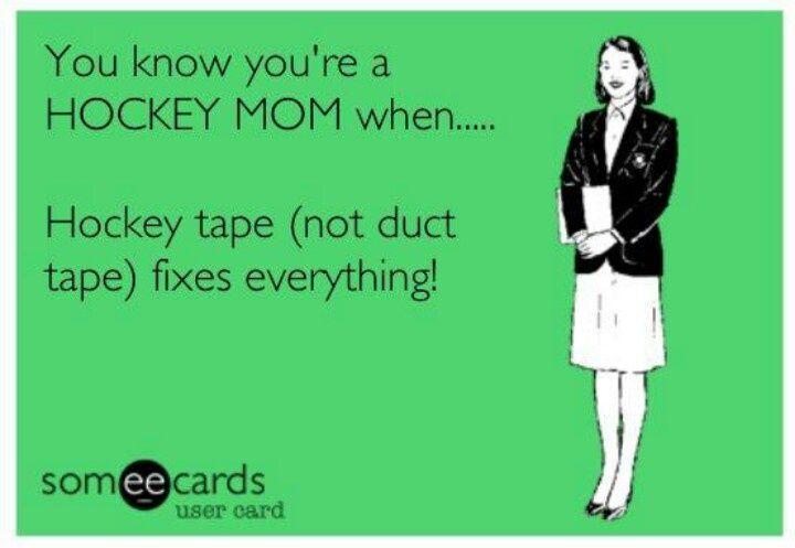 tape best hockey mom memes telling my story